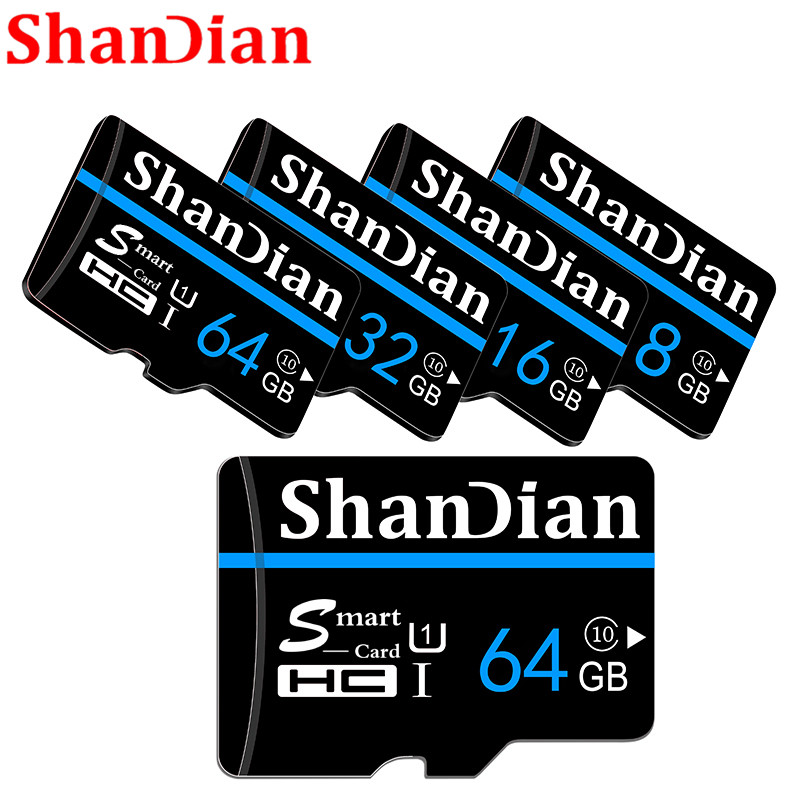 SHANDIAN 32GB Smast SD Card 16GB Class 6 Smastsd TF Card High Speed 8GB 4GB Memory Card For Phone Cameras Original Smastsd