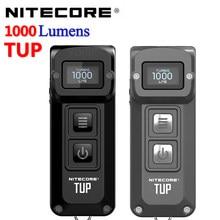 100% original nitecore tup 1000 lumens inteligente bolso edc compacto e leve luz portátil, built-in bateria usb