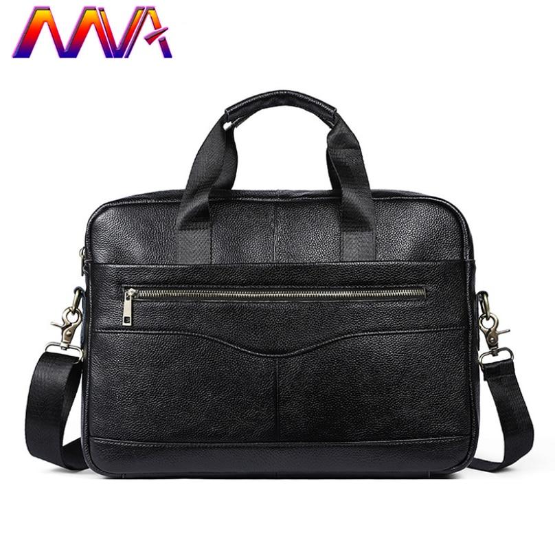 MVA мужской портфель из мягкой кожи, хит продаж, повседневная мужская кожаная сумка, женский портфель из натуральной кожи, мужская сумка на плечо