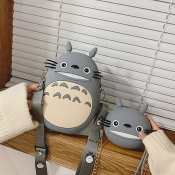 Cute Cartoon Totoro Shoulder Bags Luxury Handbags Women Bags Designer Girls Portable Purses And Handbags Chain Messenger Bag 1