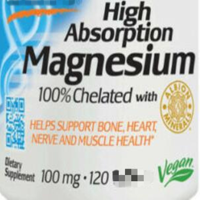Magnesium, High Absorption, 100% Chelated Magnesium , 120 Pcs Supports Bone And Muscle Health And Promotes Digestion