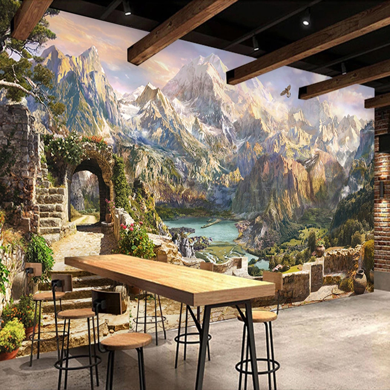 Custom 3D Photo Wallpaper European Style Landscape Oil Painting Wall Mural Living Room Bedroom Background Wall Papers Home Decor