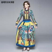 2019 Formal Dress Women Elegant Bohemian Runway Renaissance Party Long Sleeve Maxi Autumn  Vestiges Vobe