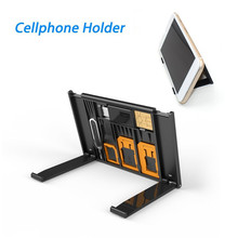 Multifunctional Cellphone Micro Sim Nano Standard SIM Storage Case Lightweight 2-in-1 TF Cards Reader Micro-USB/USB Eject Pin