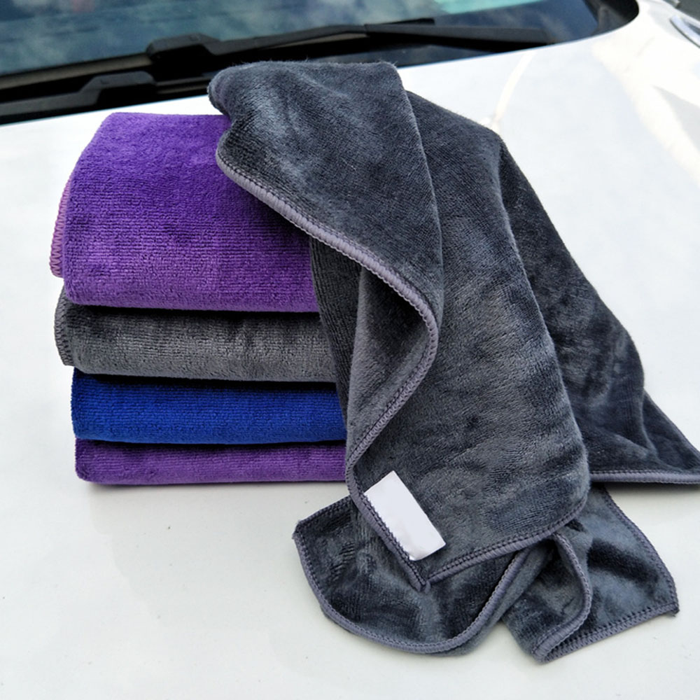 400GSM Polyester Premium Wax Super Absorbent Cleaning Fiber Microfiber Car Towel Washing Cloth Household Cleaner Auto Care 30x70