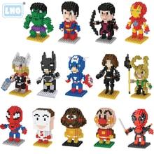 LNO Miniature Diamond Building Blocks Toys Assembly Creative Puzzle Plastic duplo mini Blocks toys015-027.253 Doll Series
