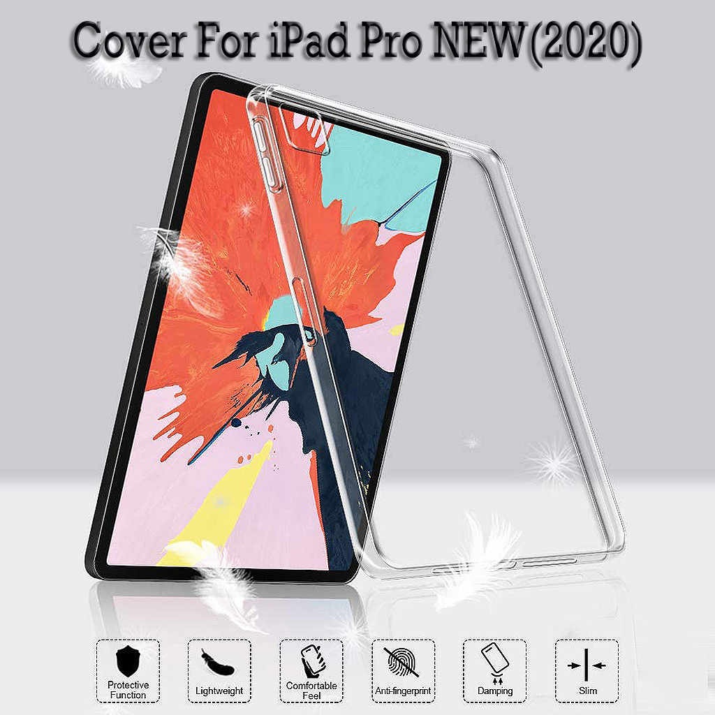 Case For New iPad Pro 2020 Slim Transparent Soft Rubber TPU Protective Clear Cover For New iPad Pro 11/12.9 inch 2020