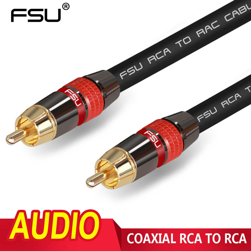 RCA Ke Kabel RCA Video Audio Coaxial Kabel Stereo Digital Konektor RCA untuk TV DVD Amplifier Hi Fi Subwoofer Kabel 1 M 2 M 3 M 5 M