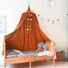KAMIMI детская кровать, детская комната занавеса, украшение для кроватки, сетка, детская палатка, моющаяся хлопковая ткань, висящий купол, детская москитная сетка