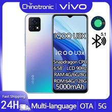 Novo iqoo u3x 6gb 64gb 5g telefone móvel snapdragon 6.58