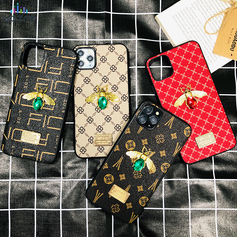 <font><b>Luxury</b></font> 3D Gemstone Bee Phone <font><b>Case</b></font> for <font><b>iPhone</b></font> 11 11 Pro 11 Pro Max 6 6s 7 8 Plus X XR Xs Max Fashion Glitter Jewelled <font><b>Case</b></font> image