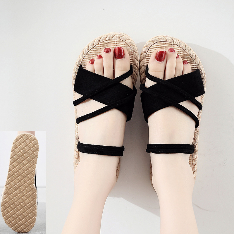 New-2020-Women-Summer-Shoes-Weave-Slippers-Woman-Casual-Fashion-Ladies-Flat-Home-Indoor-Slippers-Slides (3)