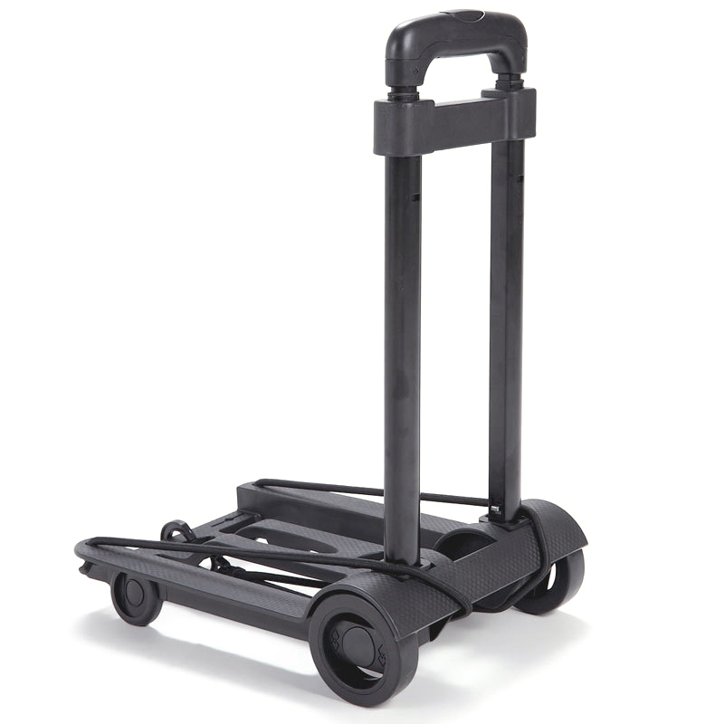 Folding Luggage Cart Portable Trolley Travel Trunk Trailer Trolley Light Hand Cart Adjustable Home Travel Shopping Cart