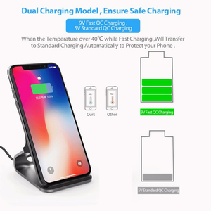 Image 3 - Qi Wireless Charger Stand 15W Qi Fast Charge Phone Stand Multifunctional Wireless Charging Pad For iPhone 12 Pro Samsung S20 10