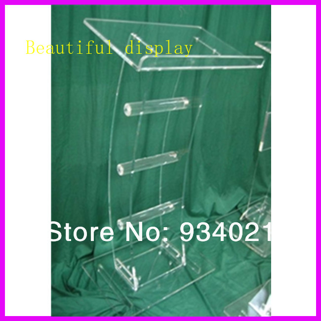 Acrylic Tabletop Lectern/Plexiglass Podiums Church Pulpit