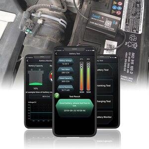 Image 3 - Lancolデジタルバッテリーテスターとbluetooth 12v車のバッテリー電圧モニタ自動車携帯電話