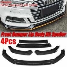 4 шт. A3 S3 передний бампер для губ автомобиля передний бампер сплиттерная губа спойлер, диффузор Защитная крышка для Audi A3 S3