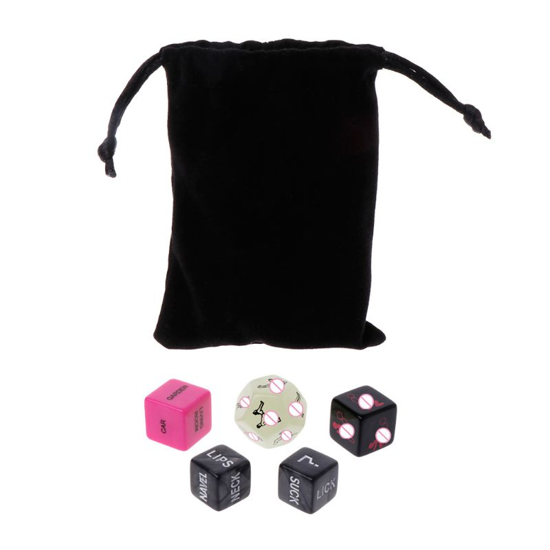 5pcs Sex Dice Fun Adult Erotic Love Sexy Posture Couple Lovers Humour Game Toy Novelty Party Gift