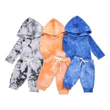 Комплект одежды для мальчиков и девочек осенняя Толстовка с