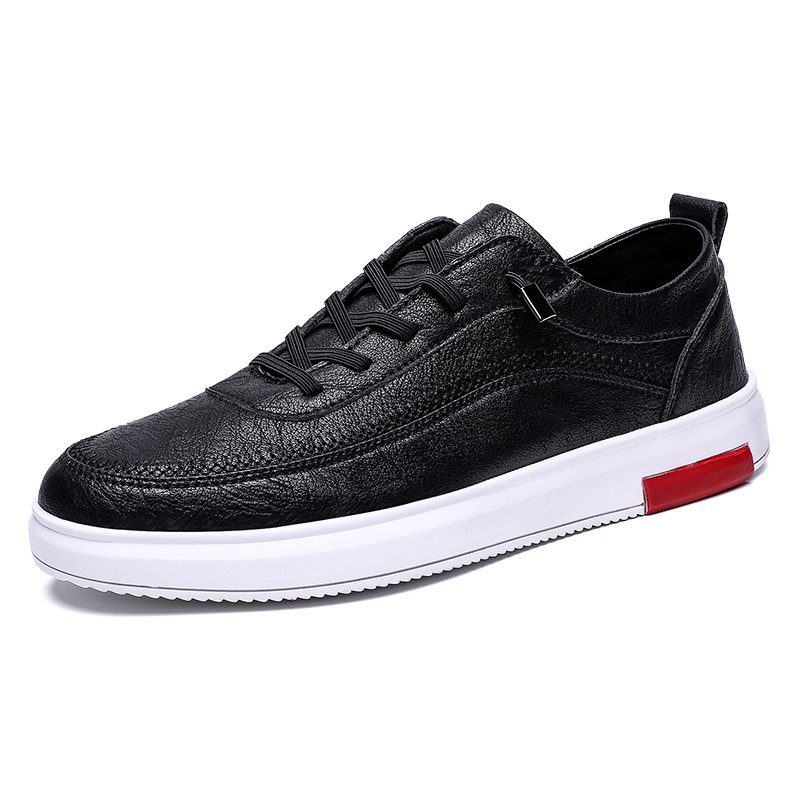 NEW 2019 Autumn New Sneakers Men Shoes Lace-Up Mens Shoes Microfiber Leather Casual Shoes Male Winter Man Footwear Flats *YH8203