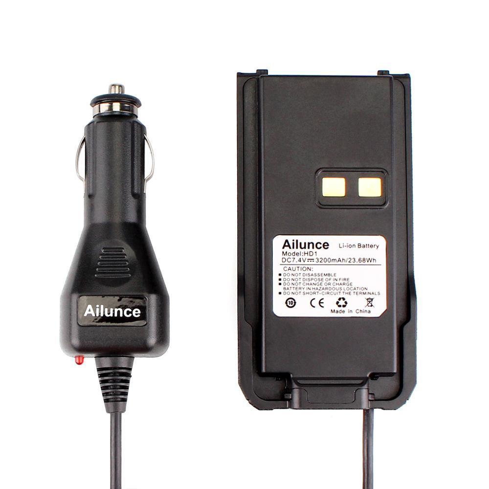 Black Car Charger Battery Eliminator 12V-24V for Ailunce HD1/Retevis RT29 Dual Band DMR Ham Radio Hf Transceiver Walkie Talkie