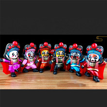 Desktop decoration Sichuan Opera Face Change Doll Toys Kit DIY Educational Toys For Children Birthday Gifts Special Crafts цена