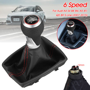 6 Speed Car MT Gear Shift Knob Gaiter Boot Cover For Audi A4 S4 B8 8K A5 8T Q5 8R S-Line 2007-2015(China)
