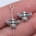 WYSIWYG 20 штук 12x8 мм старинное серебро Цвет пчелы бусины для самостоятельного изготовления ювелирных изделий