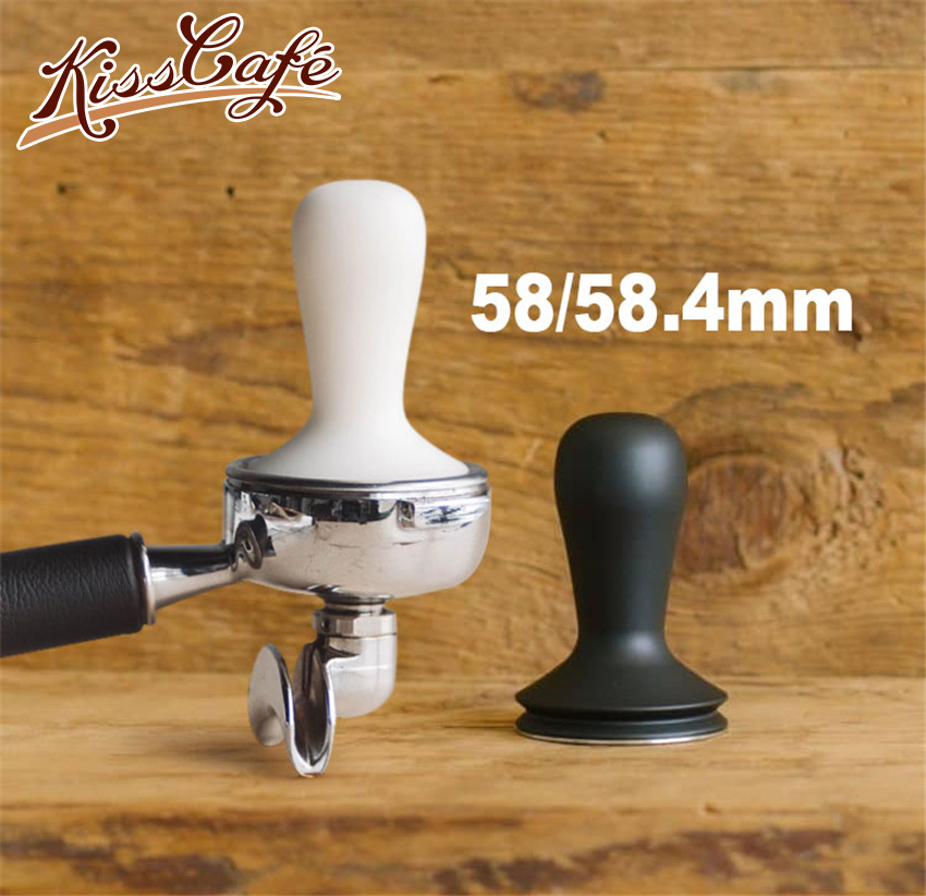 58/58.4MM Matte Handle Stainless Steel Tamper Protable Detachable Ultra-thin Base Powder Press Solid Hammer Coffee Accessories