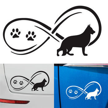 3D Stereo 15 X 7.5CM Car Dachshund Animal Personality Fashion Car Sticker Window Decoration Car Sticker Decal Accessories image