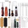 LMDZ Профессиональный Кожа ремесло набор инструментов кожа ручная работа шитье, ремонт комплект шить удар резьба работы пазовальный станок н...