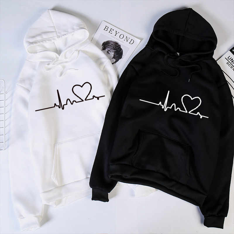 Women hoodies Casual Harajuku Love Printed hoodie Autumn Winter Female hoodies women Long Sleeve Clothing sudadera mujer moletom