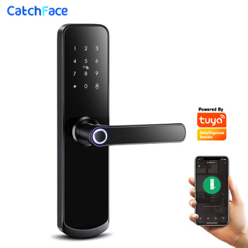 Tuya app Fingerprint Door Lock  Wifi Code Card Key Touch Screen Smart Security Digital Electronic For Home - discount item  45% OFF Access Control