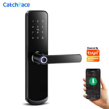 Tuya app Fingerprint Door Lock Wifi Code Card Key Touch Screen Smart Door Lock Security Digital Electronic Lock For Home - DISCOUNT ITEM  45 OFF Security & Protection