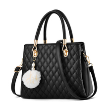 Lingge Pom-pom Large Womens Handbag High-end Business Woman Bag Famous Luxury Brand 2019 Autumn and Winter Shoulder