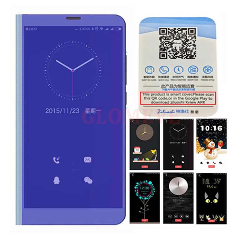 สมาร์ท Mi rror Flip สำหรับ Xiao Mi สีแดง Mi หมายเหตุ 8 7 K20 5 6 Pro 4X5 PLUS 5A 8A 7A S2 สำหรับ Mi 9 9T PRO 8 SE A1 A2 ฝาครอบ