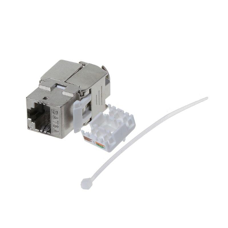 1Pc RJ45 Keystone Cat6 Cat6A Shielded FTP Zinc Alloy Module Keystone Jack Network Connector Adapter M5TB