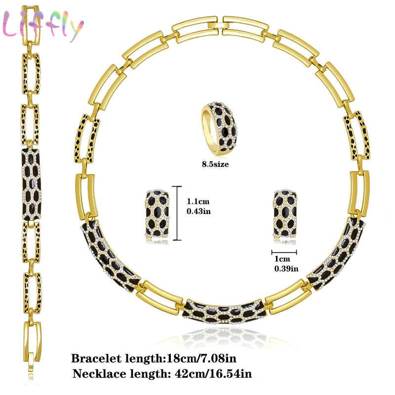 Liffly conjuntos de joyería de Dubái para mujeres, boda nigeriana de lujo, juego de joyas con cuentas africanas, traje, nuevo diseño
