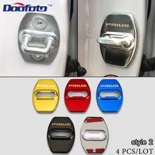 Doofoto fechadura da porta auto adesivo capa de proteção decalques estilo do carro caso para toyota prius 20 30 50 v c alpha emblema acessórios