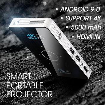 ALSTON C6 Mini 4K DLP Android 9 0 projektor WiFi Bluetooth 4 0 przenośny zewnętrzny film do projekcji w domu kino wsparcie Miracast Airplay tanie i dobre opinie Unic Auto Korekty CN (pochodzenie) 4 3 16 9 Focus 854x480 dpi 2000 lumenów 30-120 inches 2000 1 Rozrywki Projektora Rzucanie