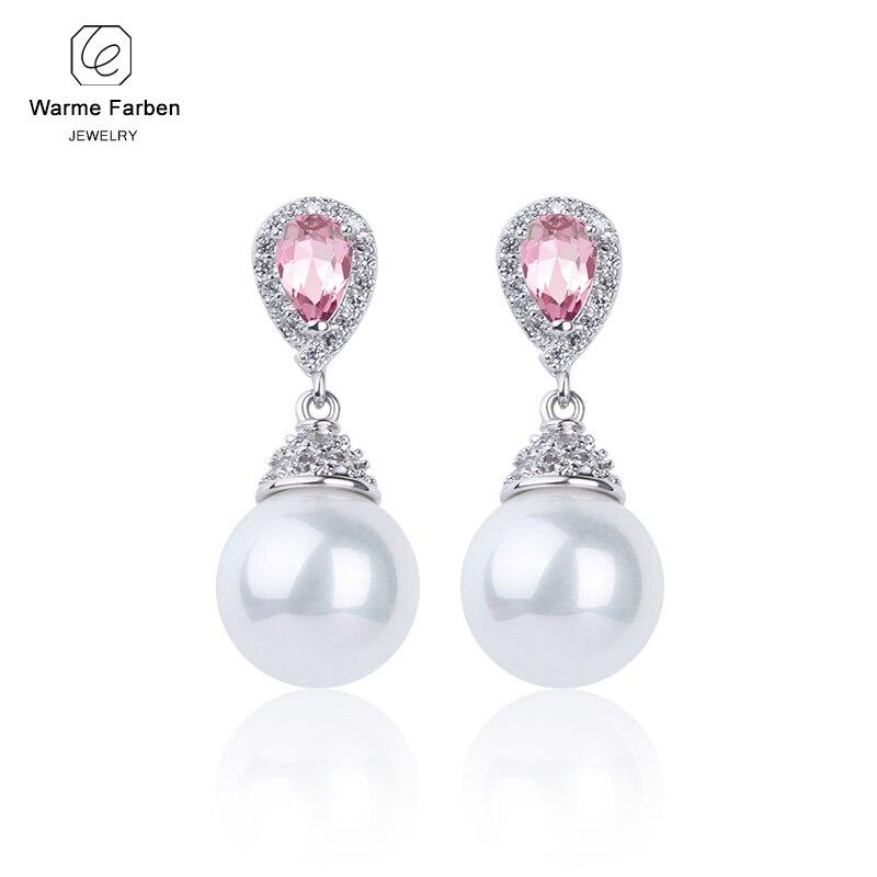 Warme Farben 925 Sliver Women Earrings Made With Swarovski Crystal Elegant Pearl Drop Earrings Fashion Jewelry Wedding Earrings 4