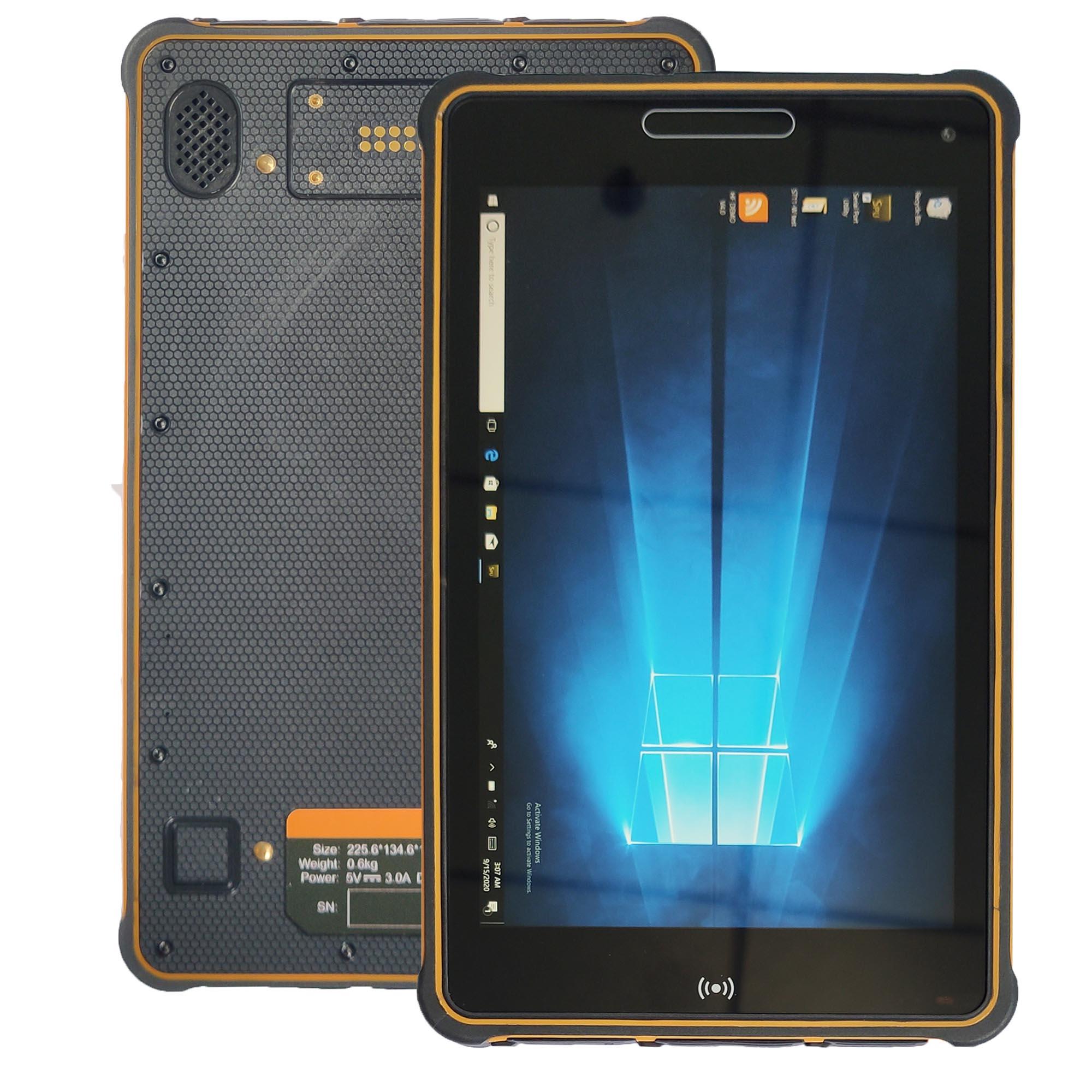 Sincoole 8 polegada windows 10 pro tablet áspero pc st8