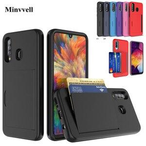Чехол для samsung Galaxy A50 A30 A20 SM-A505FN/DS A305FN A205FN, чехол карамельного цвета со слотом для бизнес-карты, чехол для S10 S20 PLUS Funda