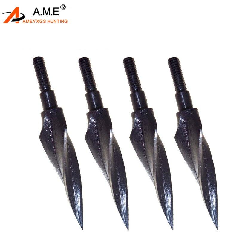 Metal 150 Grain Broadheads Screw-in Arrowheads for Arrows Archery SS