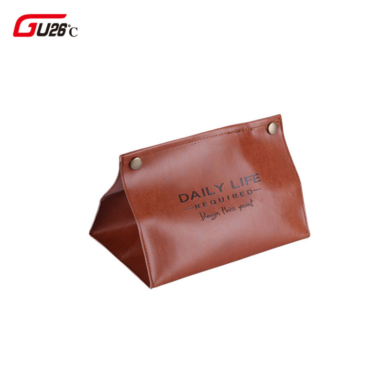 Container Towel Ins Nordic Napkin Holder PU Leather Tissue Box Paper Dispenser Tissue Holder Case for Office Home Decoration