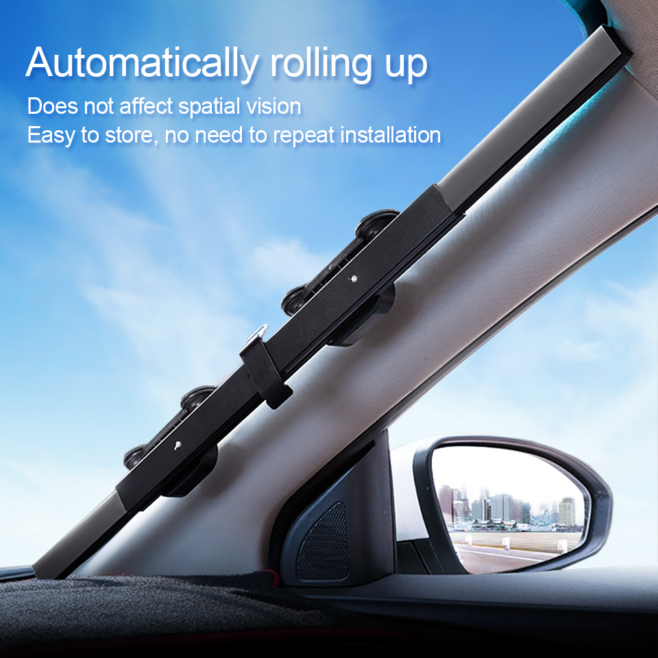 46 65 70 80CM Car Sunshade Retractable Windshield Block Sun Shade Cover Front Rear Window Foil Curtain for Solar UV Protector