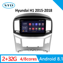 "Car Head Unit For Hyundai H1 2G RAM 32G ROM 2015-2018 Radio player Android 8.1 9"" GPS Navi multimedia system TV Carplay SWC(China)"