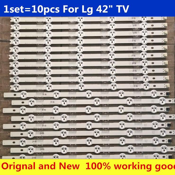 1 комплект = 10pcsled полоса LG 42LN540V 42LN613V 42LA620V LC420DUE 42LN575S 42LA620S 42LN540S-R2 6916L-1217A 42LN575S-ZE 42LN610S-ZB