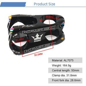 Image 2 - KRSEC Aluminium Vorbau MTB Mountainbike Stem potence velo Titan Schrauben Farben Lenker Short Stem für 28,6mm Fahrrad Gabel