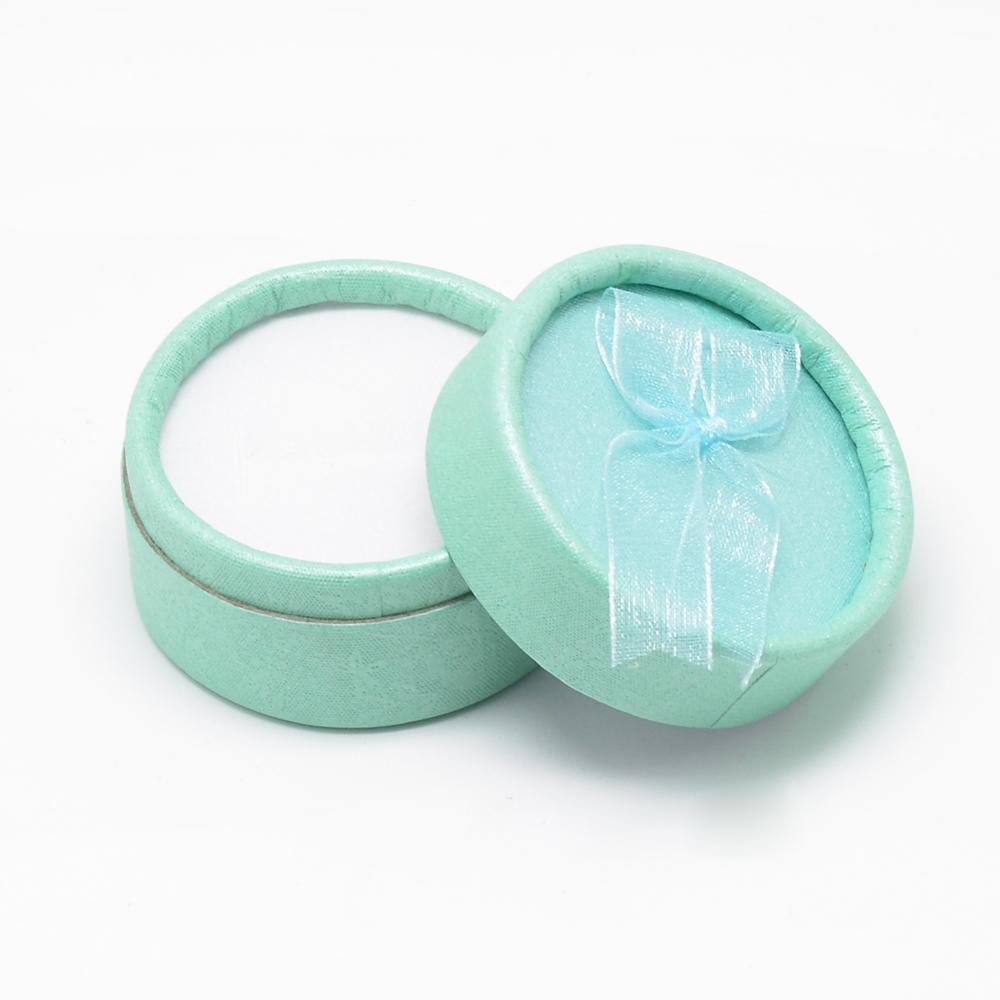 24pcs Flat Round Cardboard Bracelet Boxes Valentine's Day Gift Box for Bracelet & Bangle, Size : about 5.5x3.5cm
